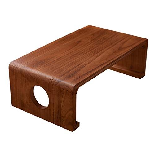 Tatami-Couchtisch Erker-Tisch Chinesischer Traditioneller Schultisch Einfacher Balkon Kleiner Couchtisch Japanischer Niedriger Tisch Klaviertisch (Color : Walnut, Size : 80 * 50 * 30cm)