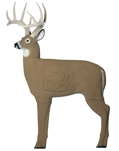 Field Logic GlenDel Buck 3D Archery Target with Replaceable Insert Core, GlenDel Buck w/4-sided insert, Brown