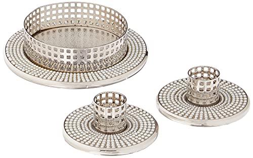 Hortense B. Hewitt Vintage Pearl Unity Candle Holders Wedding Accessories