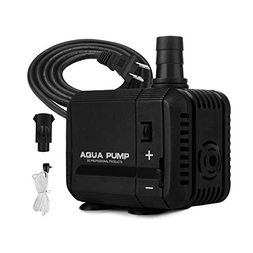 KEDSUM 130GPH Submersible Pump(500L/H, 6W), Ultra Quiet Fountain Water Pump with 2.6ft High Lift, 2-in-1 Aquarium Pump with 5.3ft Power Cord for Fish Tank, Pond, Aquarium, Statuary, Hydroponics
