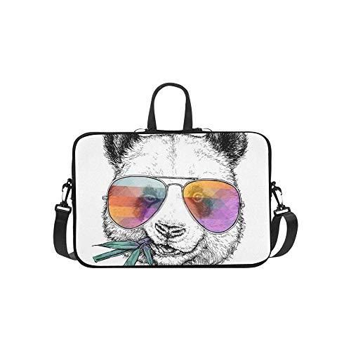 15.6″Durable Hombro Mensajero Bolsa maletín PC Gafas Divertidas Retrato Dibujado Mano Moda...