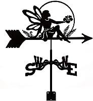 装飾風羽根天気羽山山ヤード装飾、ステンレス鋼のウェザーベネファームシーン風方向インジケーター測定ツール