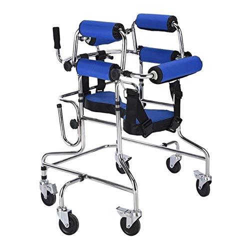 TF Rollator 6-Rad-Rollator, faltbar, leicht, Stützen Verstellbare Griffe for Lähmungs Hemiplegie Rehabilitation Equipment Stehen Trainingsunterstützung Roller Kinder Rollator deaktiviert
