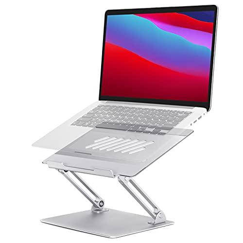 Skisneostype Laptopständer, Multi-Angle Laptop Stand mit Heat-Vent, Ergonomischer Höhenverstellbar Notebook Ständer, Faltbarer Laptop Ständer Kompatibel für Macbook Lenovo, Dell, HP, 10-17