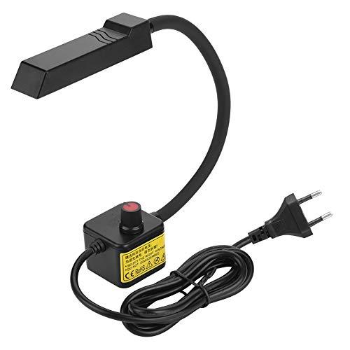 Delaman Nählicht LED Schwanenhals Nählampe, 30 LEDs, mit magnetischer Montagebasis, 110V-220V für Zuhause Nähmaschine (Farbe : EU Plug)