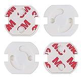 Bellmii® [20 unidades] -Tapa de protección para enchufes - Seguridad bebes y niños - Mecanismo de giro - Fácil instalación sin herramientas - Adhesivo 3M - Enchufe Europeo - Blanco