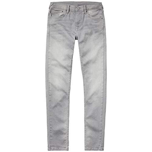 Pepe Jeans Jungen Finly Slim Jeans, Grau Denim Uk5, 15-16 Jahre