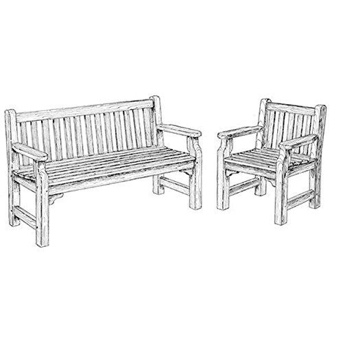 Woodcraft Projektplaner für Holzarbeiten, englische Gartenbank und -stühle