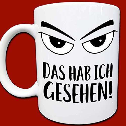 Böser Blick Tasse, Coole Sachen, Gag Geschenke Erzieher, Lehrer, Eltern, Chef, Böse gucken, Augen, Kaffeetasse, Geniale Geschenke für Männer und Frauen