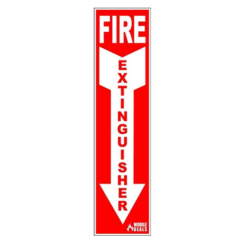 Amerex A411, 20lb ABC Dry Chemical Class A B C Multi-Purpose 20 Pound Fire Extinguisher with Wall Bracket, Mobile Deals Sticker Sign and Blank Inspection Tag