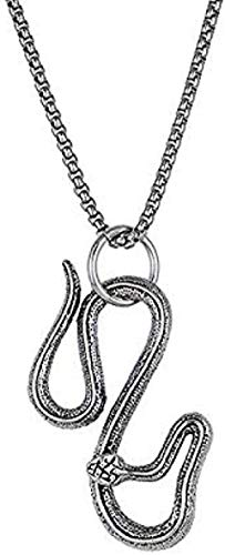 Collar Mujer Collar Hombre Collar Personalidad Punk Serpiente Colgante Collar para Hombres Niños Vintage Rock Color Negro Plata Animal Collar Declaración Joyería Colgante Collar Niñas Niños Regalo