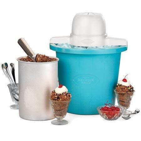 Nostalgia ICMP4BL 4-Quart Electric Ice Cream Maker Blue