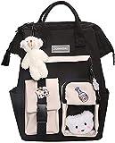 Kawaii Backpack with Kawaii Pin and Accessories Cute Kawaii Backpack, Aesthetic School Cute Backpack Kawaii School Supplies Laptop Bookbag (A)
