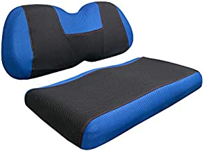 NOKINS Golf Cart Y Type Seat Cover Kit,Fits for Yamaha Front Original Seat Cushion, Easy to Install, The Seat Cover Can Protect The New Appearance and Update The Old Cushion (Blue)
