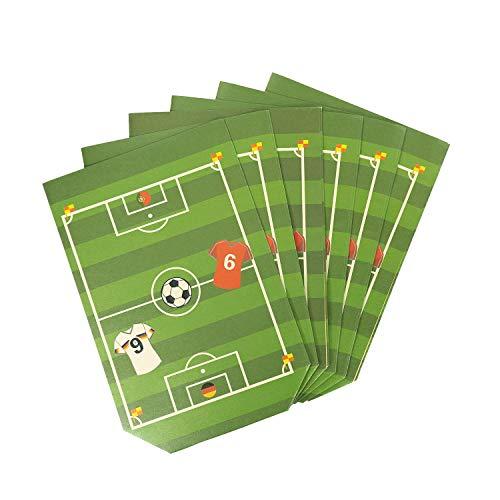 Oblique Unique® Fußballfeld Geschenktüten 6 STK WM Fußball Spielfeld Papiertüten für Jungs Jungen Kinder Geburtstag Feier Motto Party Feier Mitgebsel