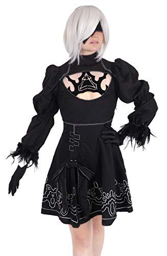 CoolChange NieR Automata Kostüm von Yorha Modell B Nr. 2 Kleid mit Perücke, Größe: S