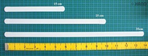 HAND ® 4 Stück Metall Weiß Boning für Korsetts - 12 mm Weitwinkel (Größe 35 cm)