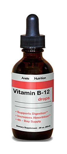 Vitamin B12 Sublingual Liquid Drops Instantly Boost Energy Best Absorption and Speed Up Metabolism, Weightloss Assists, Methylcobalamin, GMO Free, Natural Nutritional Body Energizer- Large 2oz Bottle