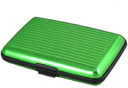DealMux Gr�n-Legierung Abdeckung 6 Taschen Kredit-ID-Visitenkarte-Kasten-Kasten : B�robedarf & Schreibwaren