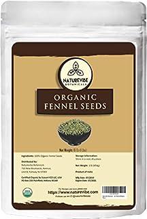 Naturevibe Botanicals Organic Fennel Seeds 1lb, Foeniculum Vulgare | Gluten Free & Non-GMO | Adds Flavor | ...