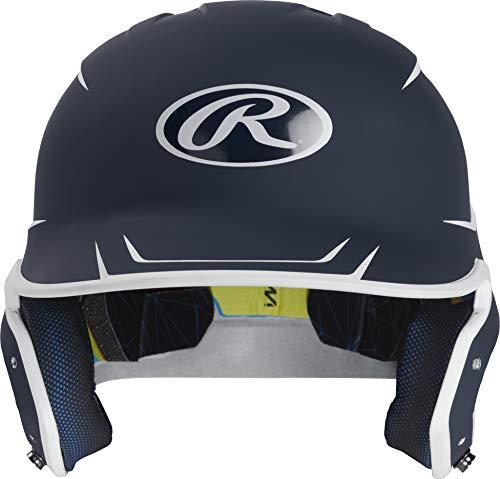 Rawlings MACH Baseball Batting Helmet, Junior, Matte Navy/Matte White