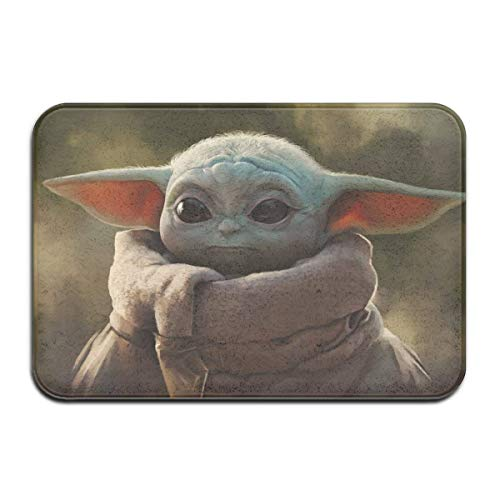 Odelia Palmer Star Mandalorian Wars Master Yoda Alfombras Alfombras de Puerta de casa Alfombras de Entrada Antideslizantes Felpudos, 40X60cm DMT-161