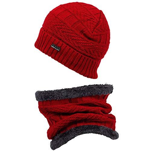 GERWADSA Herbst Und Winter Dicken Hut Kopfbedeckung Schal Dual-Use-Kappe Sowie Samt Warme Mütze Winddicht Kalte Kappe