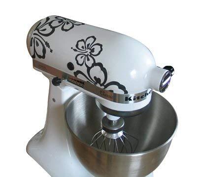 Grafix reclame en design sticker voor Kitchenaid keukenmachine hibiscus - Kitchenaid zwart mat