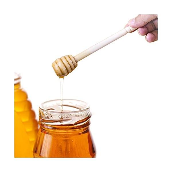 Juego de 20 varillas de miel de madera portátiles de 15 cm para tarro