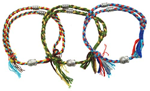 LUCKY BUDDHIST Tibetan Pulseras de la Suerte + Colgante/Collar! Amuletos para Mujeres...