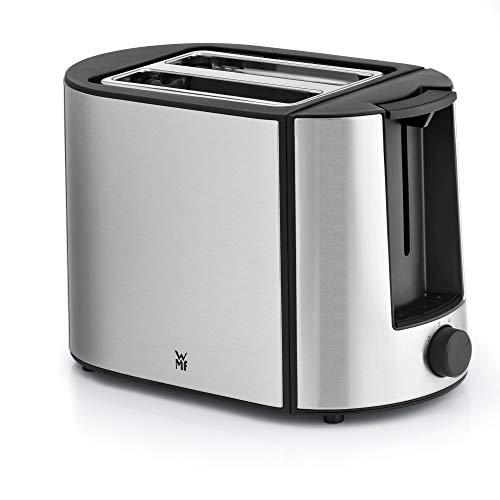 WMF Bueno Pro Toaster (870 W, Doppelschlitz, Brötchenaufsatz, 6 Bräunungsstufen, Edelstahl) matt/schwarz