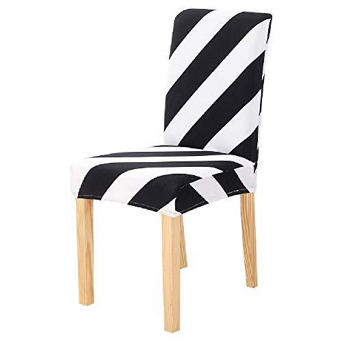 NNGZ Stuhlbezige Stretch Elastic Chair Schonbezug Waschbarer Stretch Sitzschutz Für Hochzeitsbankettparty C4 2Pcs