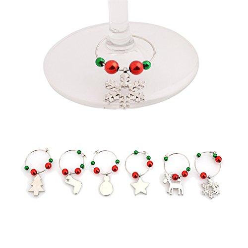 Chinget Weihnachten Thema Weinglasmarkierer Glasmarker Ring Charm Anhänger Weihnachtendekoration (Stil 3)