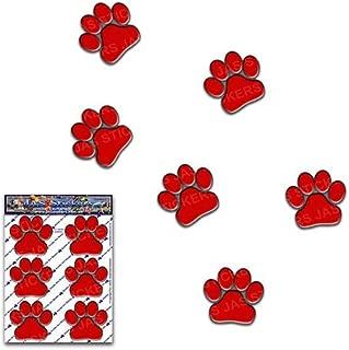 赤い足のプリントおかしい動物ペット猫犬小パック車のステッカーデカール-ST00002RD_SML-JASステッカー