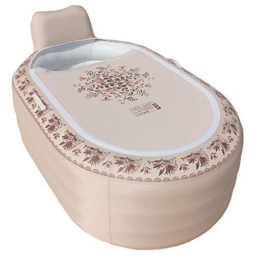 SJBF Continental bañera Inflable de PVC Plegable for Adultos Piscina de Gran tamaño más Grueso Equipado con Bomba eléctrica, Accesorios de baño Naturales (Color : B)