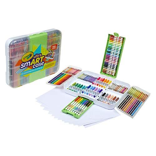Crayola Smart Case, Art Set for Kids, Art Supplies, Gift, 150 Pieces