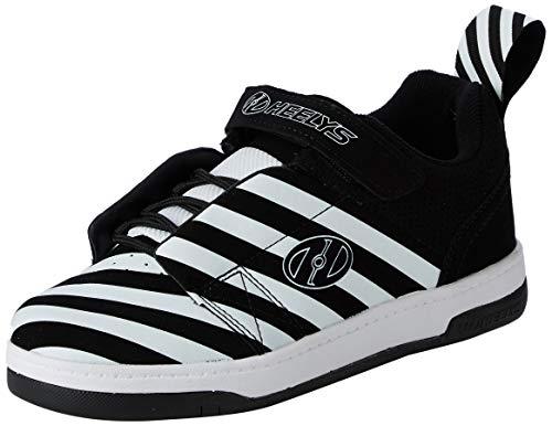 Heelys Unisex-Erwachsene Rift (he100626) Sneaker, Schwarz (Black/White/Stripe Black/White/Stripe), 36.5 EU