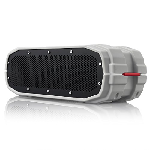 BRAVEN BRV-X Portable Wireless Bluetooth Speaker [12 Hour Playtime][Waterproof] Built-in 5200 mAh Power Bank Charger - Gray