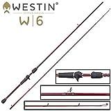 Westin W6 T&C Finesse-T ML 2,13m 5-15g Spinnrute zum Spinnfischen auf Barsche, Angelrute fr Texas Rig & Carolina Rig, Barschrute