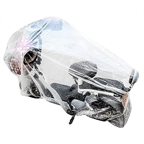 Yajun Cubierta de Motocicleta al Aire Libre Impermeable Bicicleta Scooter Funda a Prueba de Polvo de Lluvia Protector Transparente Desechable Funda para Todas Las Estaciones,XL(1.9-2.1M)
