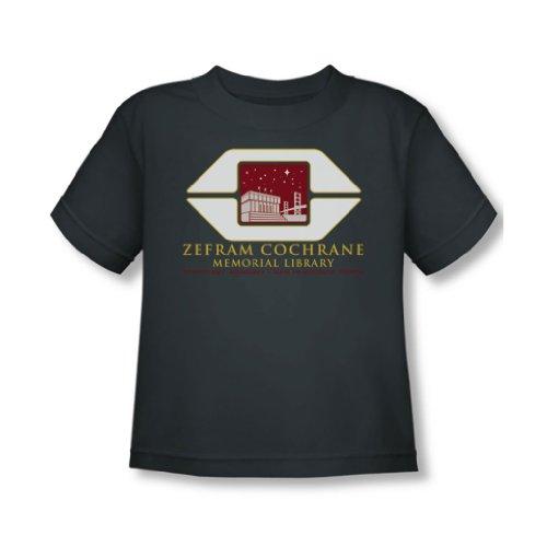 Star Trek - - Tout-petit Cochrane Library T-shirt En charbon, 2T, Charcoal