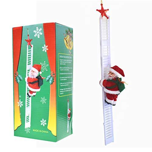JOYKK elektrische kerstman klimmen ladder pop speelgoed voor kerstfeest Thuis muur Decoratio