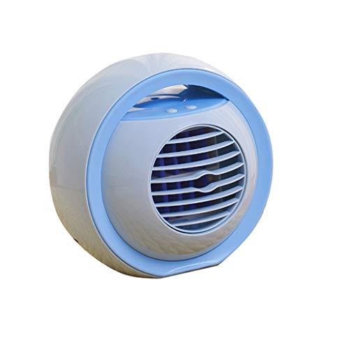 GYF Aire Acondicionado,Aire Acondicionado Portatil,Mini Enfriador Portátil,7 Colores Luces 3 Velocidades,Climatizador Evaporativo con Función De Humidificación Purificador (Color : Blue)