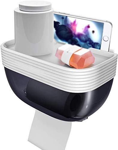 Aan de muur bevestigde handdozen toiletpapier box Punch Free Roll papier tube waterdicht en vochtbestendig toiletpapierhouder, groen