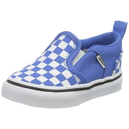 Vans Asher V Toddler, Scarpe da Ginnastica Unisex-Bambini, Checkerboard Nebulas Blue/White, 18 EU