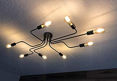 Ceiling Light Fixture Industrial Metal Flush Mount Light Ceiling Lamp Lights for Dining Room Kitchen Living Room Lighting