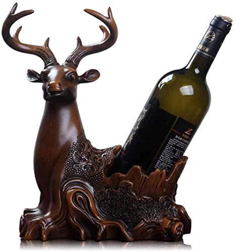 Escultura Estante para botellas de vino estante para vinos Elk adornos para estantes para vinos cocina restaurante gabinete para vinos decoración resina encimera gabinete bodega estante para botellas