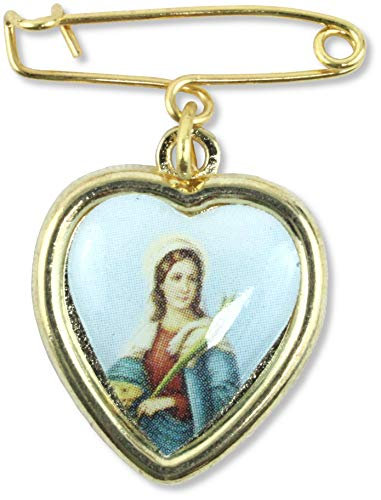 Desconocido Medalla de corazón Personalizable de Metal Coon Pin de 13 x 15 mm – Tamaño Exterior 18 x 22 mm. Juego de 100 Unidades.