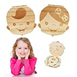 Baby Tooth Box Wooden Kids Tooth Holder Teeth...