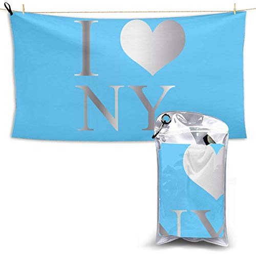 XCNGG Quick Dry Bath Towel, Absorbent Soft Beach Towels, I Love Ny New York for Camping, Backpacking, Gym, Travelling, Swimming,Yoga 28.7'' X 51''